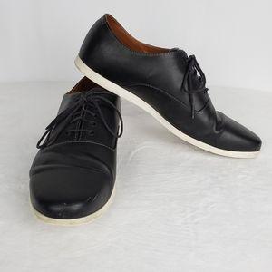 Zara Man Black Faux Leather Sneakers Men 10